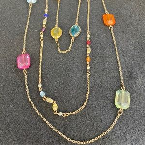 Jewelry - Long colorful 3 strand necklace